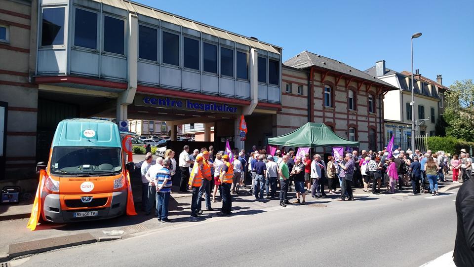 Manifestation hopital hayange